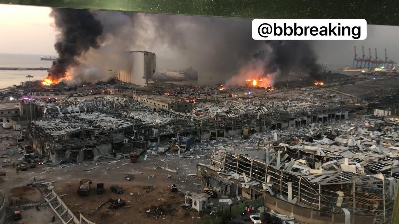 Взрыв в порту Бейрута