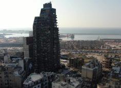 Последствия взрыва в Бейруте, новое видео