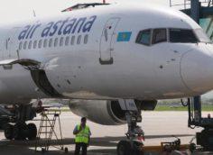 Самолет совершил вынужденную посадку а аэропорту Шимкента