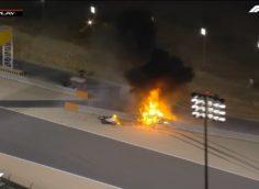 """Крупная авария произошла на гонке Гран-при """"Формулы-1"""" в Бахрейне, видео"""