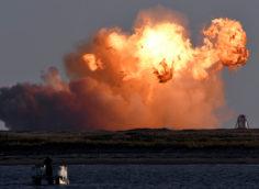 Прототип космического корабля Starship взорвался при посадке после испытаний