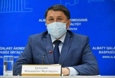 Постановление Главного санврача Алматы Бекшина от 29 марта 2021 года