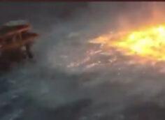 В Мексиканском заливе загорелся морской трубопровод компании Pemex, видео
