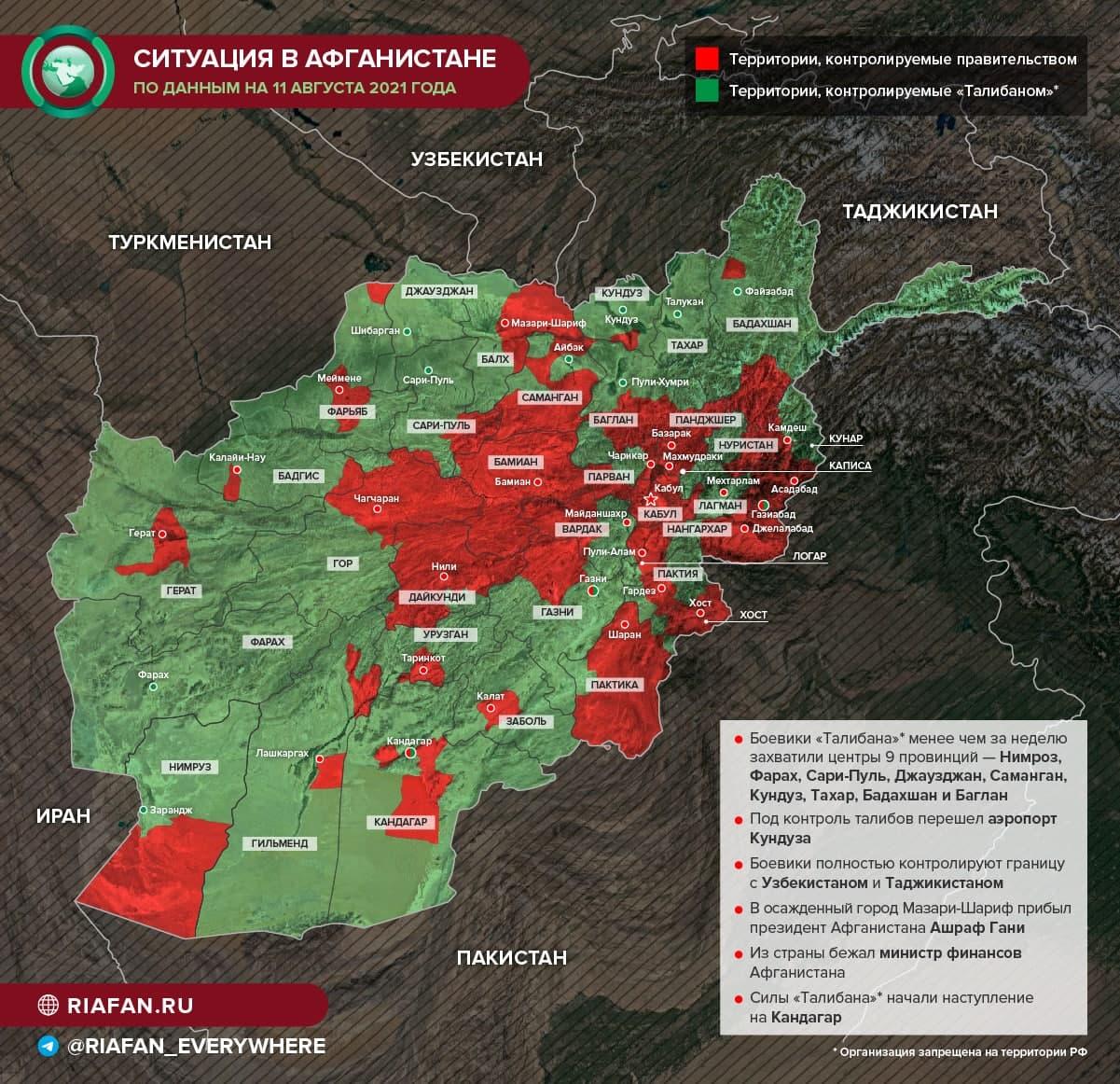 Талибы находятся в 130 километрах от Кабула — Associated Press
